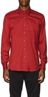 Prada Men's Stretch Cotton-Blend Poplin Slim Shirt
