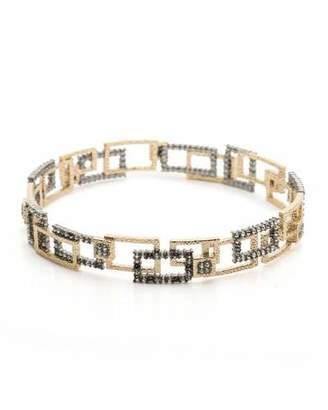 Alexis Bittar Brutalist Crystal Encrusted Bangle Bracelet