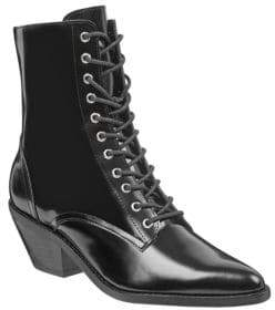 Marc Fisher Bowie Lace-Up Leather Booties