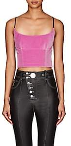 Alexander Wang Women's Velvet Fitted Crop Cami - Pink