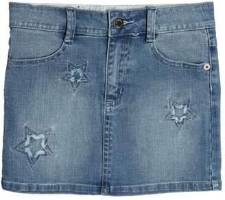 Zadig & Voltaire Embroidered Stretch Cotton Denim Skirt