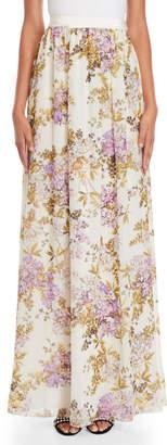 Giambattista Valli Silk Floral Maxi Skirt