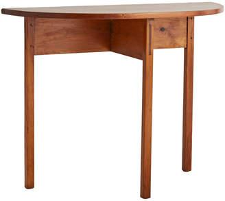 Rejuvenation Pine Demi-Lune Table w/ Mortise & Tenon Joints