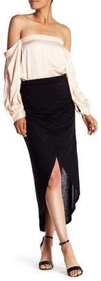 1 STATE 1.State Wrap Front Hi-Lo Skirt