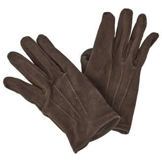 Hermes Brown Suede Gloves