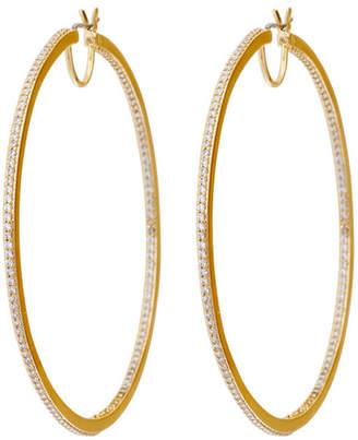 Henri Bendel Luxe Uptown Pave Hoop Earring