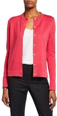 Carolina Herrera Silk-Cotton Button Front Cardigan