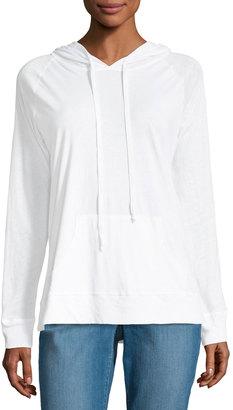 Allen Allen Long-Sleeve Jersey Hoodie $55 thestylecure.com