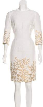 Andrew Gn Embroidered Sheath Dress