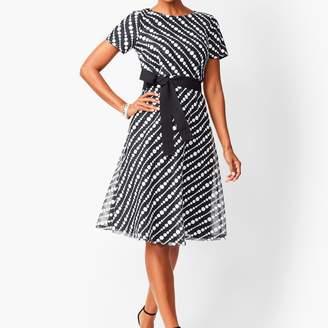 Talbots Diagonal Lace Fit & Flare Dress