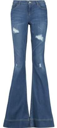 Alice + Olivia Ryley High-Rise Distressed Denim Jeans