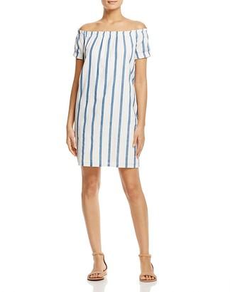 Vero Moda Stripe Off-the-Shoulder Dress $55 thestylecure.com