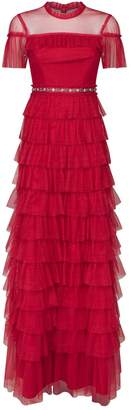 Needle & Thread Dotted Ruffle Gown