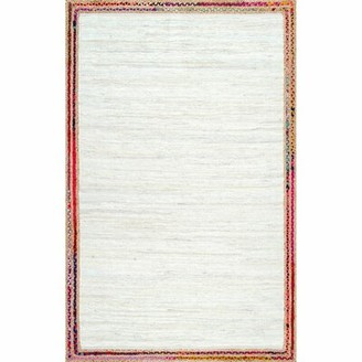 Bungalow Rose Carlisle Hand-Woven Ivory Area Rug