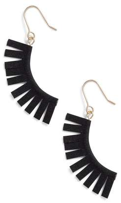 Panacea Suede Fringe Earrings