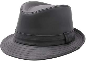 Classic Italy Men's Trilby Cuir Leather Trilby Hat Size 59 Cm