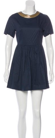 3.1 Phillip Lim3.1 Phillip Lim Metallic-Accented A-Line Dress
