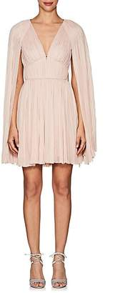 J. Mendel Women's Hand-Pleated Silk Mousseline Dress - Pink