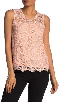 Nanette Lepore NANETTE Lace Scoop Neck Tank Top