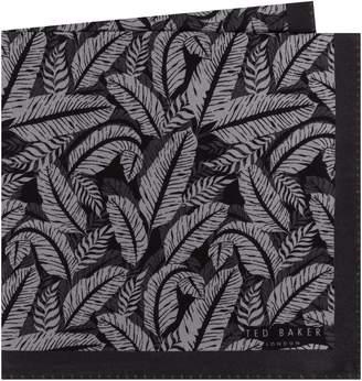 Ted Baker Palm Print Silk Pocket Square