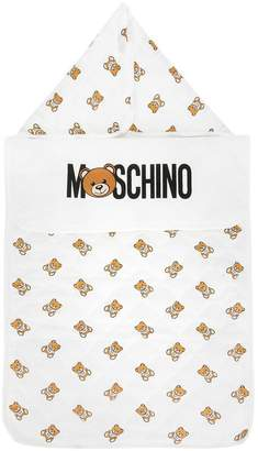 Moschino Kids teddy bear logo blanket