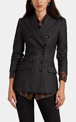 Isabel Marant Women's Kristle Pinstriped Virgin Wool-Blend Blazer - Gray