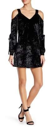 AFTER MARKET Avery Cold Shoulder Velvet Dress