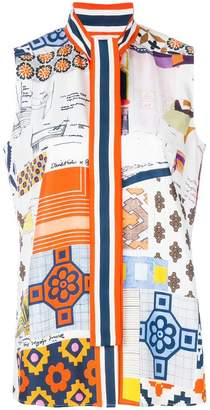 Tory Burch printed sleeveless blouse