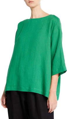 eskandar 3/4 Sleeve Italian Lightweight Linen Tunic