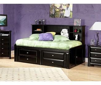 Harriet Bee Eldon Twin Bed with Bookcase and Storage Harriet Bee