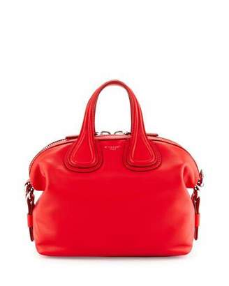 Givenchy Nightingale Small Waxy Leather Satchel Bag, Bright Red $2,190 thestylecure.com