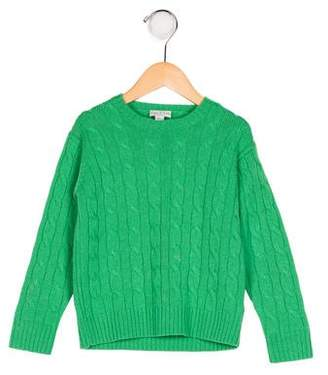 Papo d'Anjo Kids' Cashmere Cable Knit Sweater