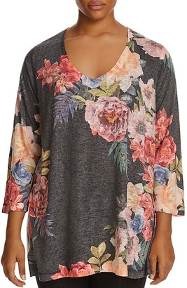Nally & Millie Plus Floral Print Tunic $94 thestylecure.com
