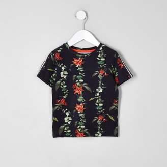 River Island Mini boys floral tape T-shirt