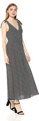 Betsey Johnson Women's Pebble Stripe Crepe Dress, Black/Ivory, 4