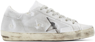 Golden Goose White Superstar Sneakers $495 thestylecure.com