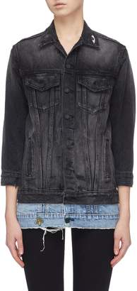 Sandrine Rose 'The Tonie' graphic embroidered layered denim jacket