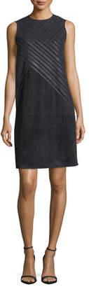 Lafayette 148 New York Hailey Sleeveless Suede Shift Dress