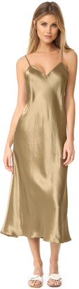 Vince V Neck Slip Dress $275 thestylecure.com