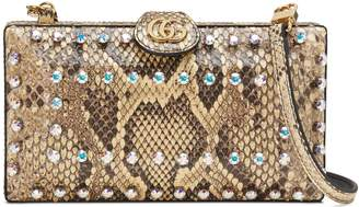 Gucci Broadway Genuine Python Minaudiere