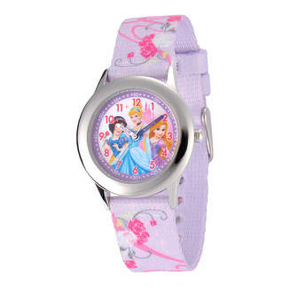 Disney Princess Kids Time Teacher Purple Fabric Strap Watch