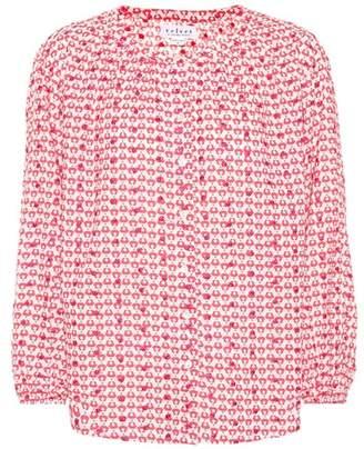 Velvet Printed cotton blouse