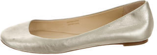 Vera Wang Leather Round-Toe Flats $65 thestylecure.com