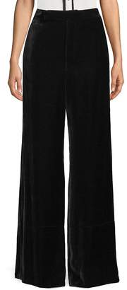Celine Women's Velvet Wide-Leg Pants