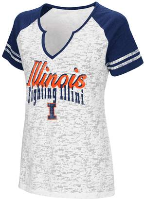 NCAA Women's Campus Heritage Illinois Fighting Illini Notch-Neck Raglan Tee