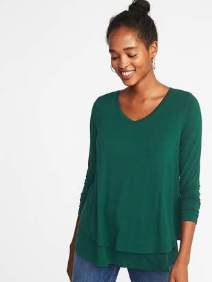 Old Navy Maternity Double-Layer Nursing Swing Top