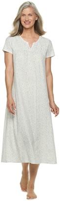 Croft & Barrow Women's Smocked Long Nightgown