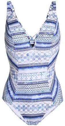 Jets Australia By Jessika Allen Lattice-Trimmed Printed Swimsuit
