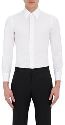 Thom Browne THOM BROWNE MEN'S SLIM-FIT BUTTON-FRONT SHIRT-WHITE SIZE 3 $380 thestylecure.com