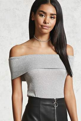 Forever 21 Contemporary Metallic Top